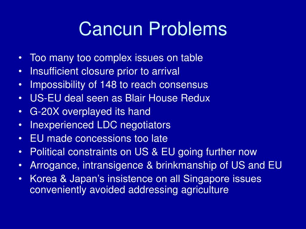 Cancun Problems