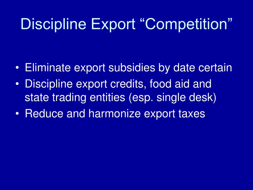 "Discipline Export ""Competition"""