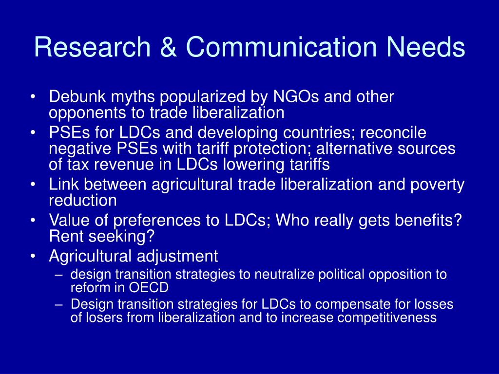 Research & Communication Needs