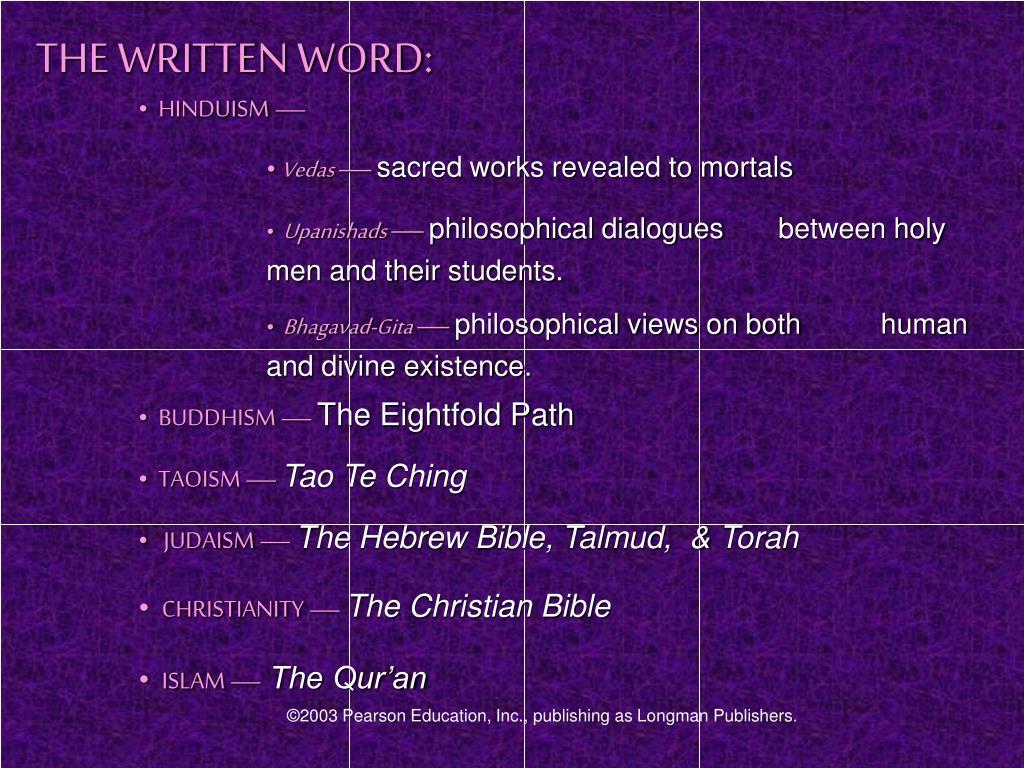 THE WRITTEN WORD: