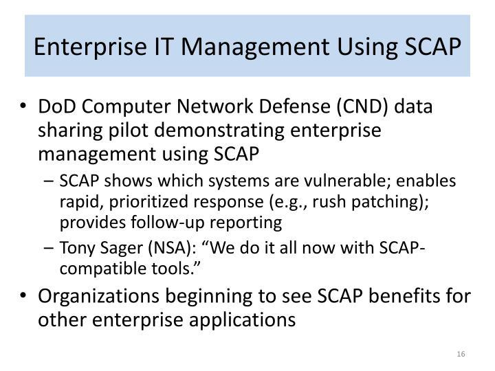 Enterprise IT Management Using SCAP