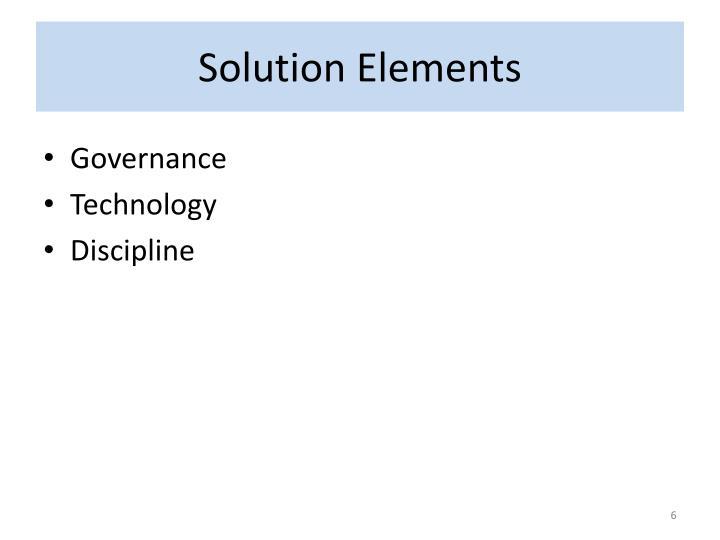 Solution Elements