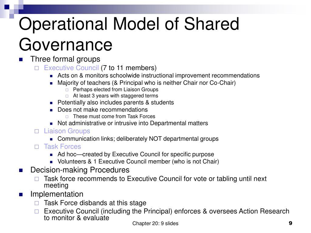 Operational Model of Shared Governance