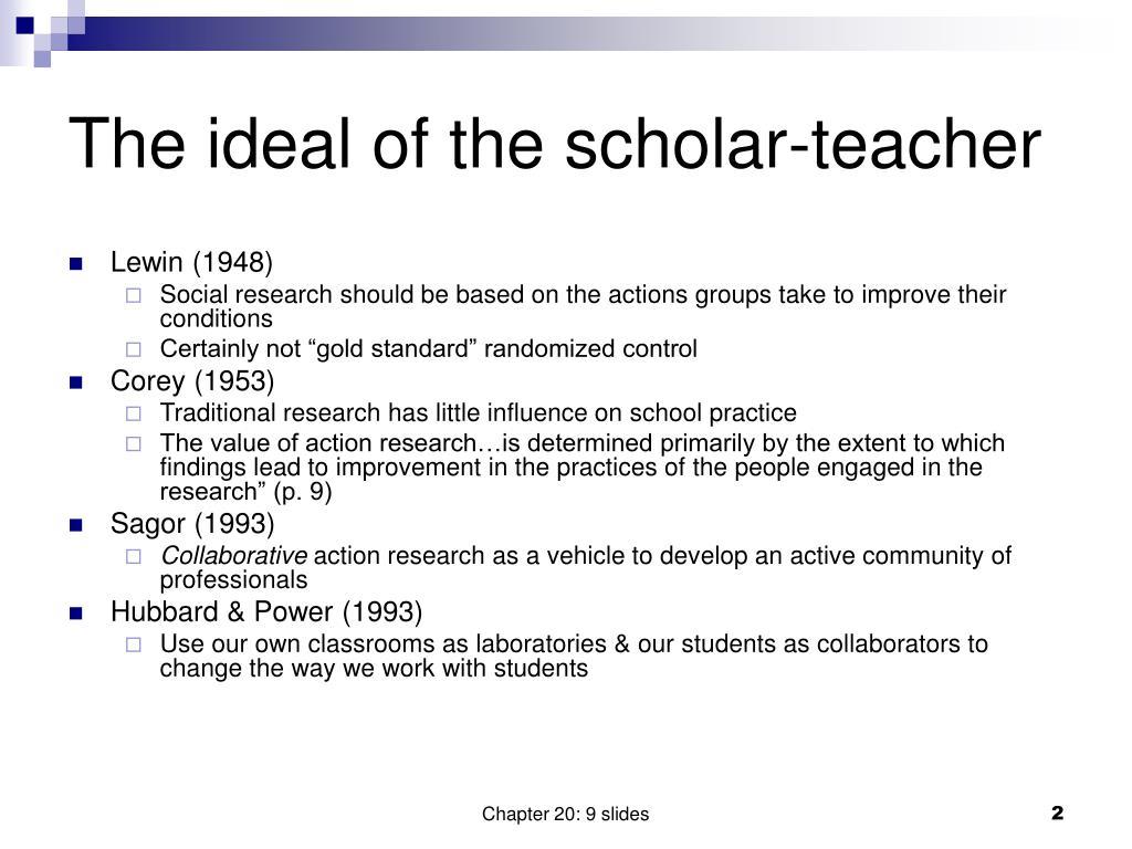 The ideal of the scholar-teacher