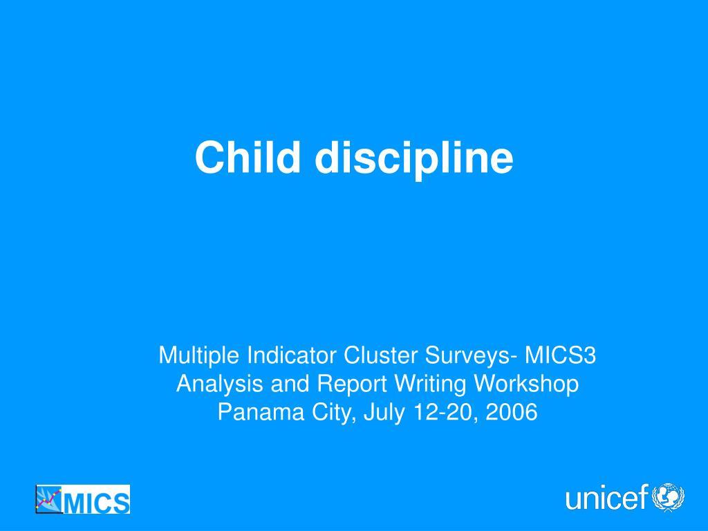 Multiple Indicator Cluster Surveys- MICS3