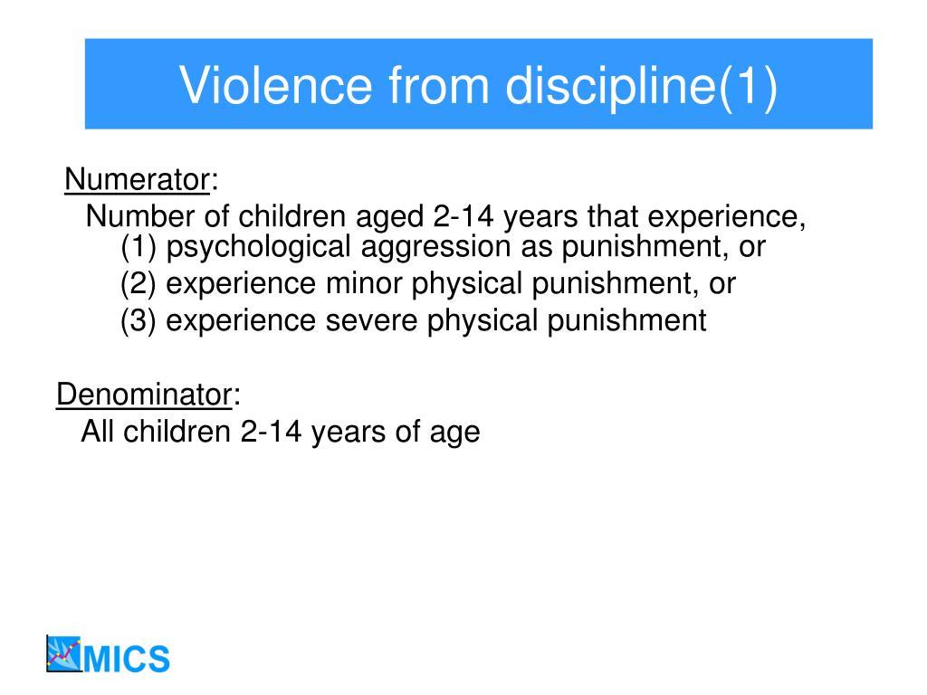 Violence from discipline(1)