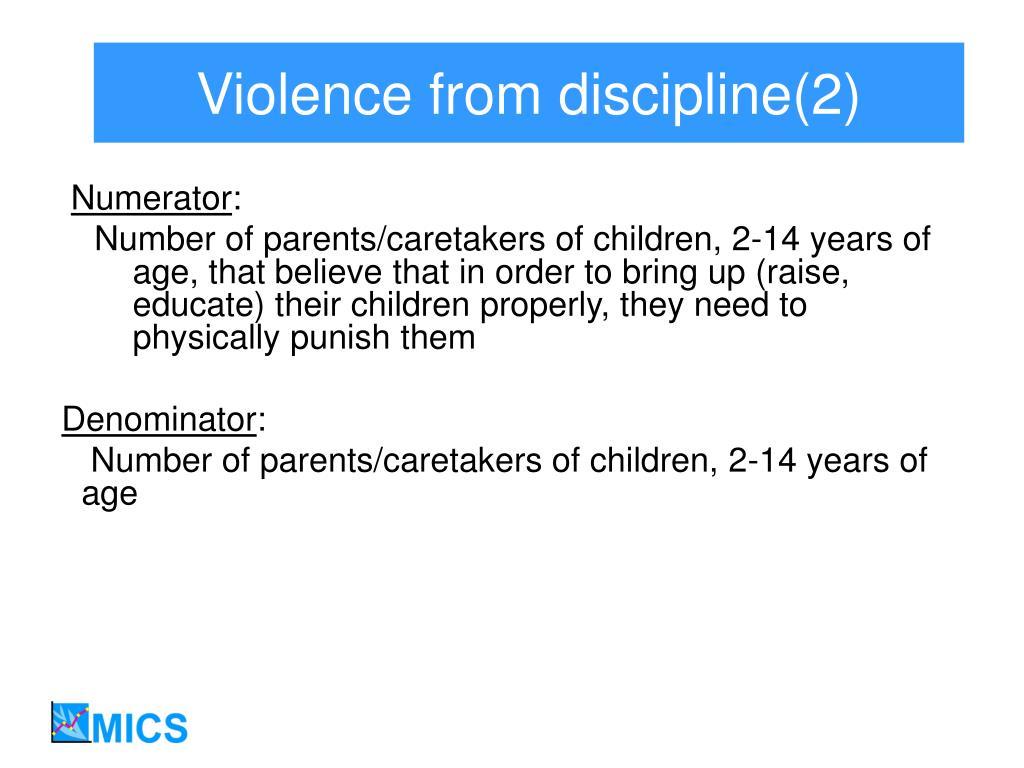 Violence from discipline(2)
