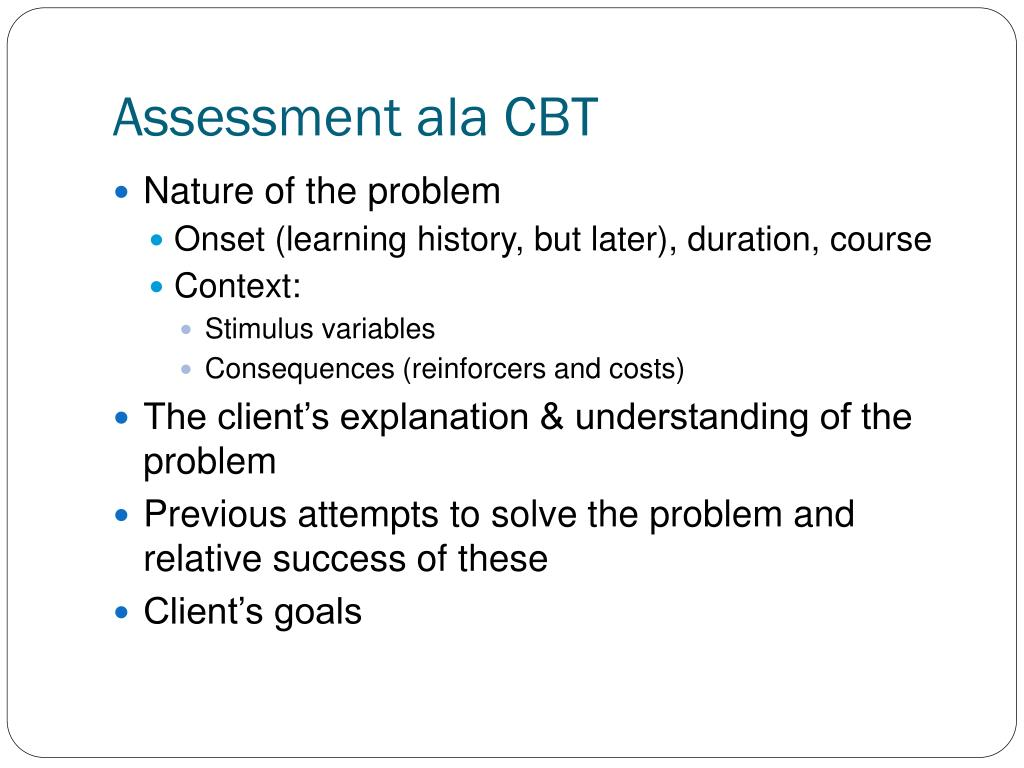 Assessment ala CBT