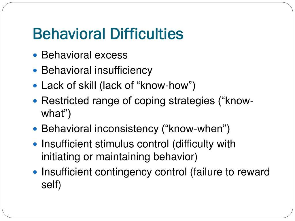 Behavioral Difficulties