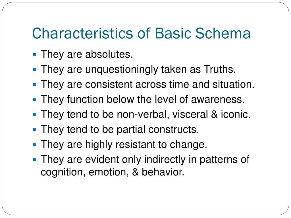 Characteristics of Basic Schema