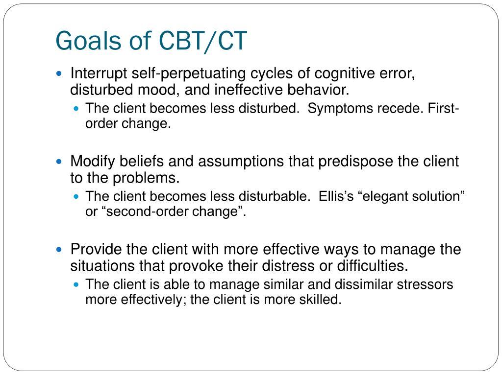 Goals of CBT/CT