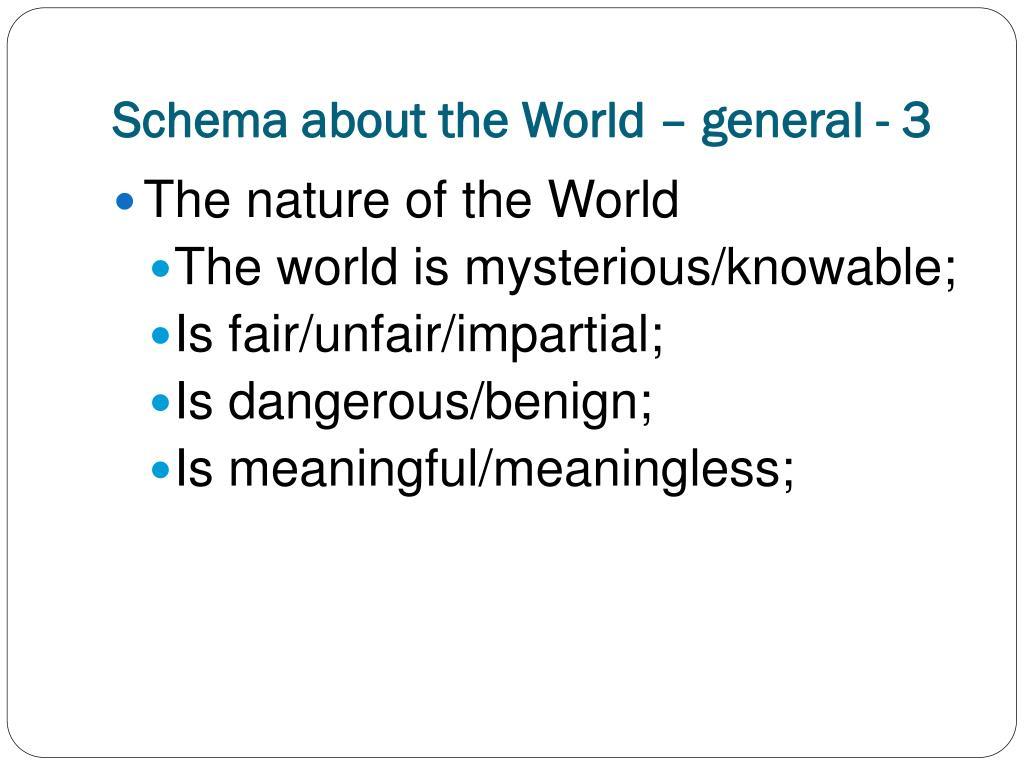 Schema about the World – general - 3