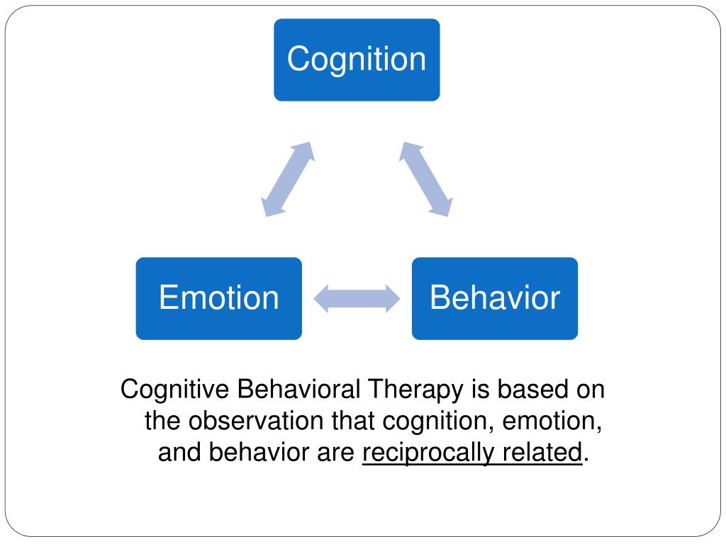 Cognitive Behavioral Therapy is based on