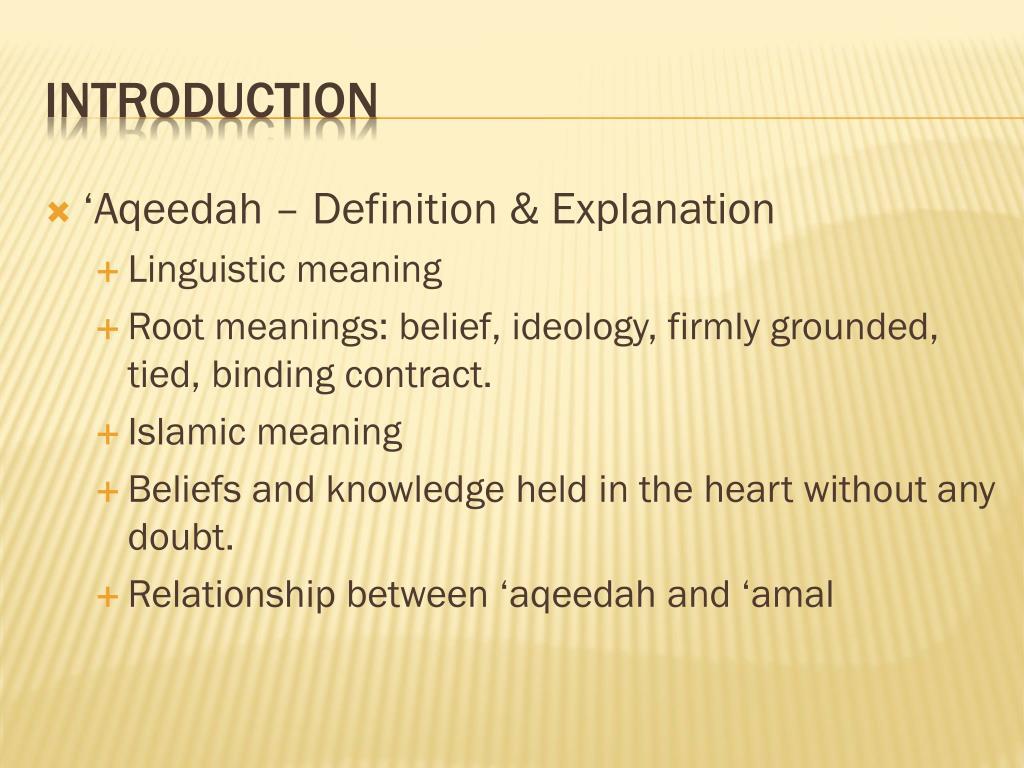 'Aqeedah – Definition & Explanation