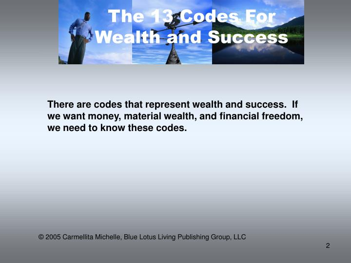 The 13 Codes For