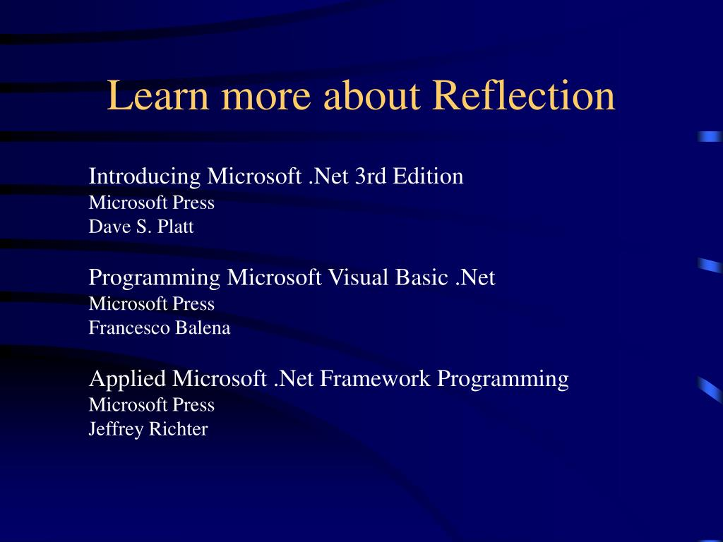 Learn more about Reflection