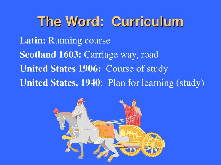 The word curriculum