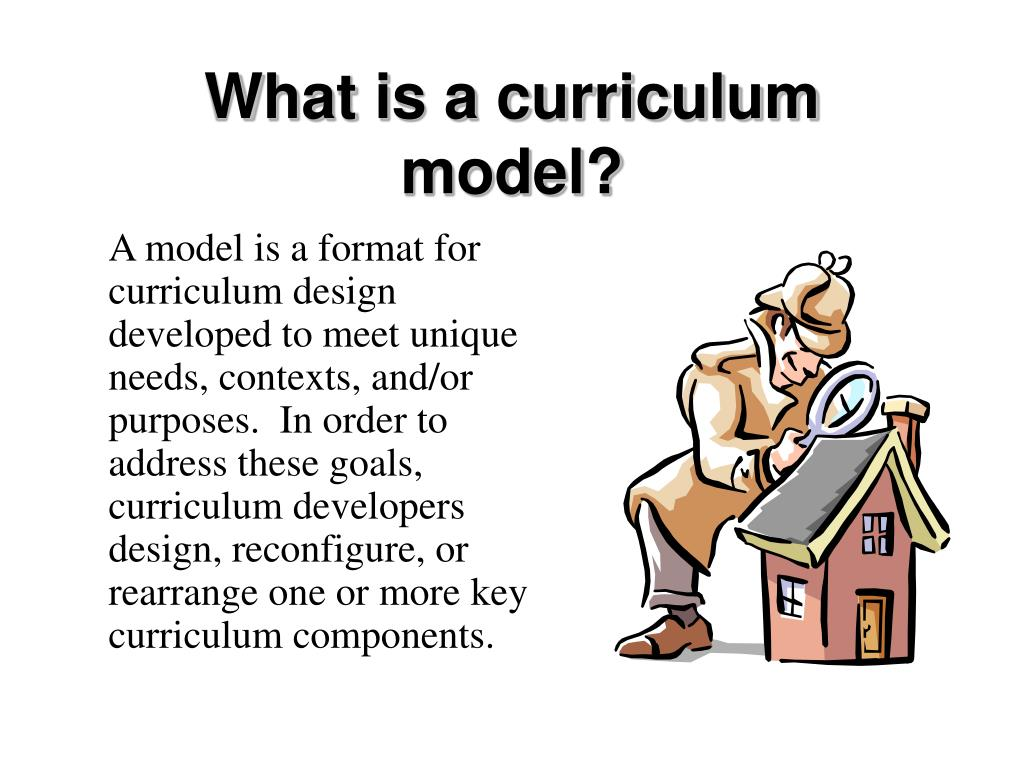 What is a curriculum model?