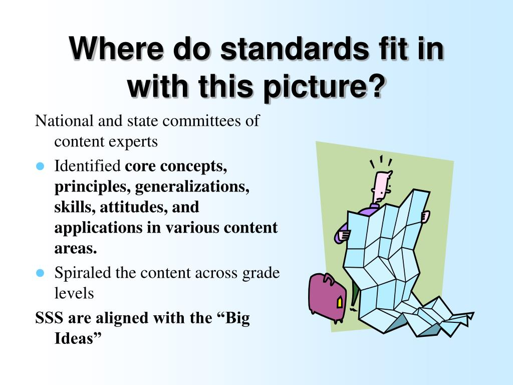 Where do standards fit in with this picture?