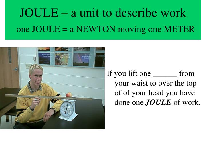 JOULE – a unit to describe work