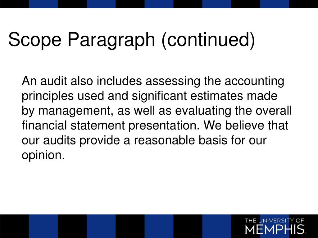 Scope Paragraph (continued)