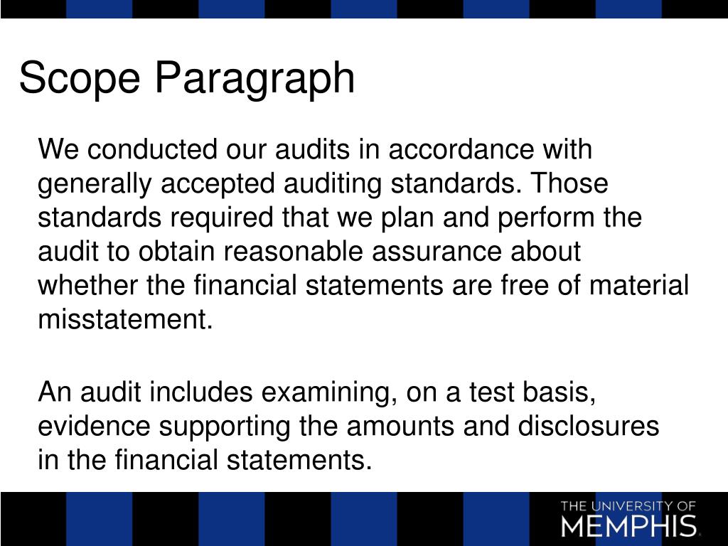 Scope Paragraph