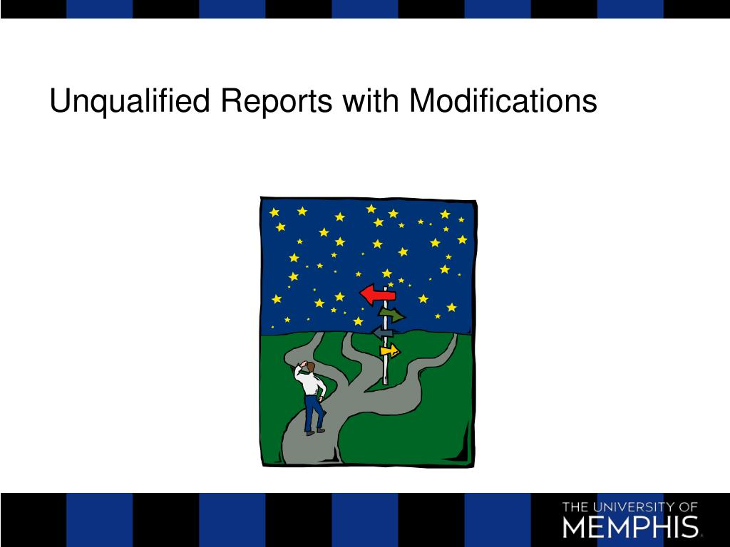 Unqualified Reports with Modifications
