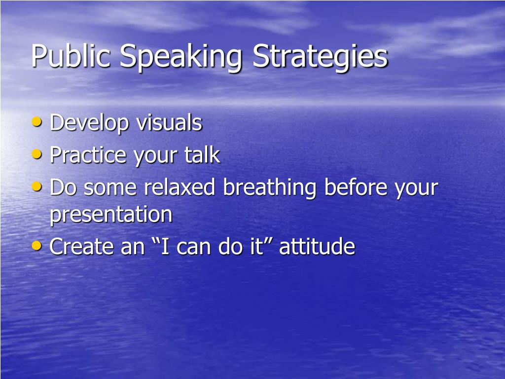 Public Speaking Strategies