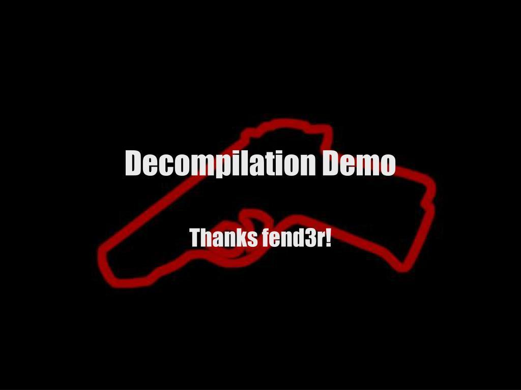 Decompilation Demo