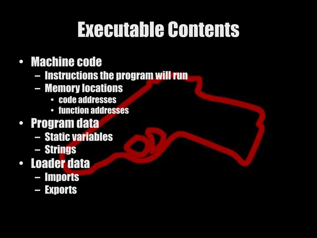 Executable Contents