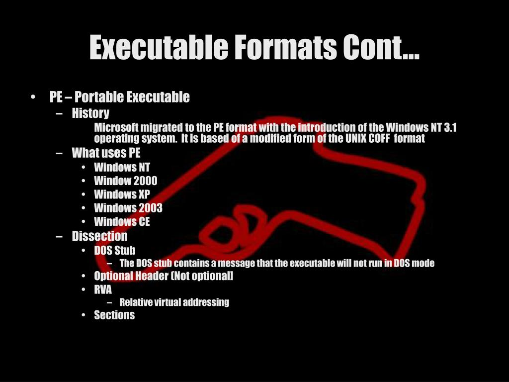 Executable Formats Cont…