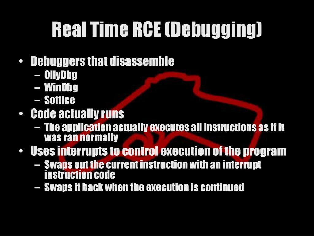 Real Time RCE (Debugging)