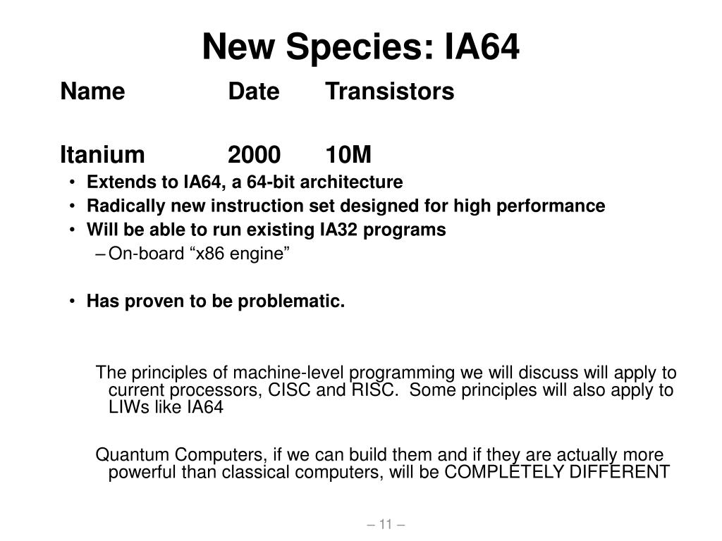 New Species: IA64