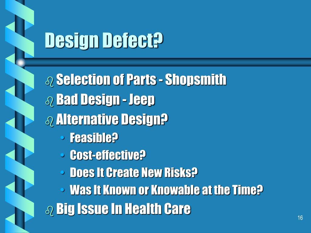 Design Defect?