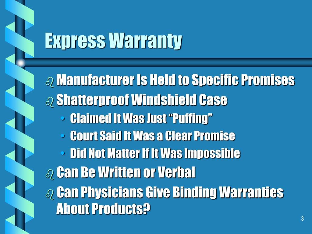 Express Warranty