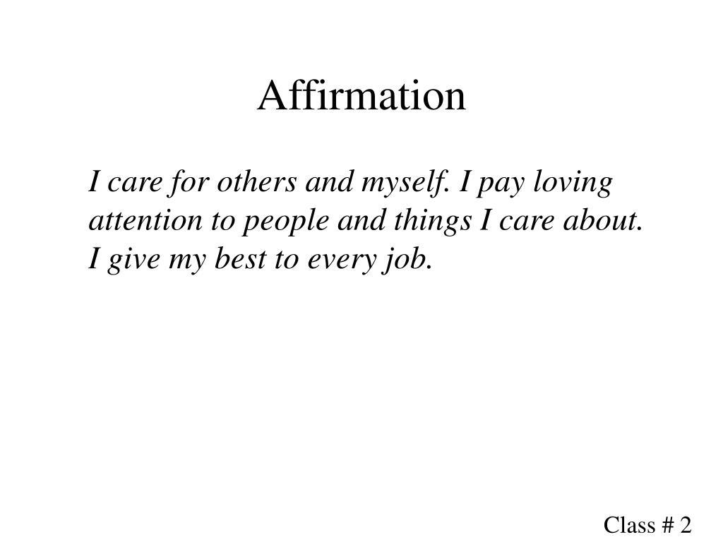 Affirmation