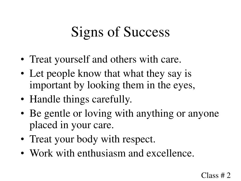 Signs of Success