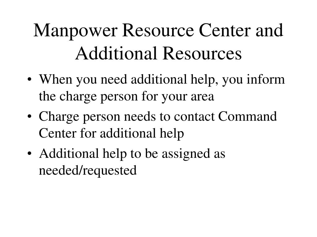 Manpower Resource Center and Additional Resources