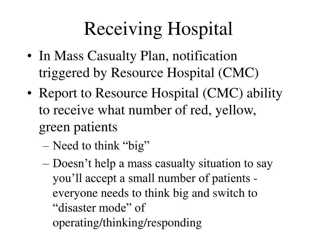 Receiving Hospital