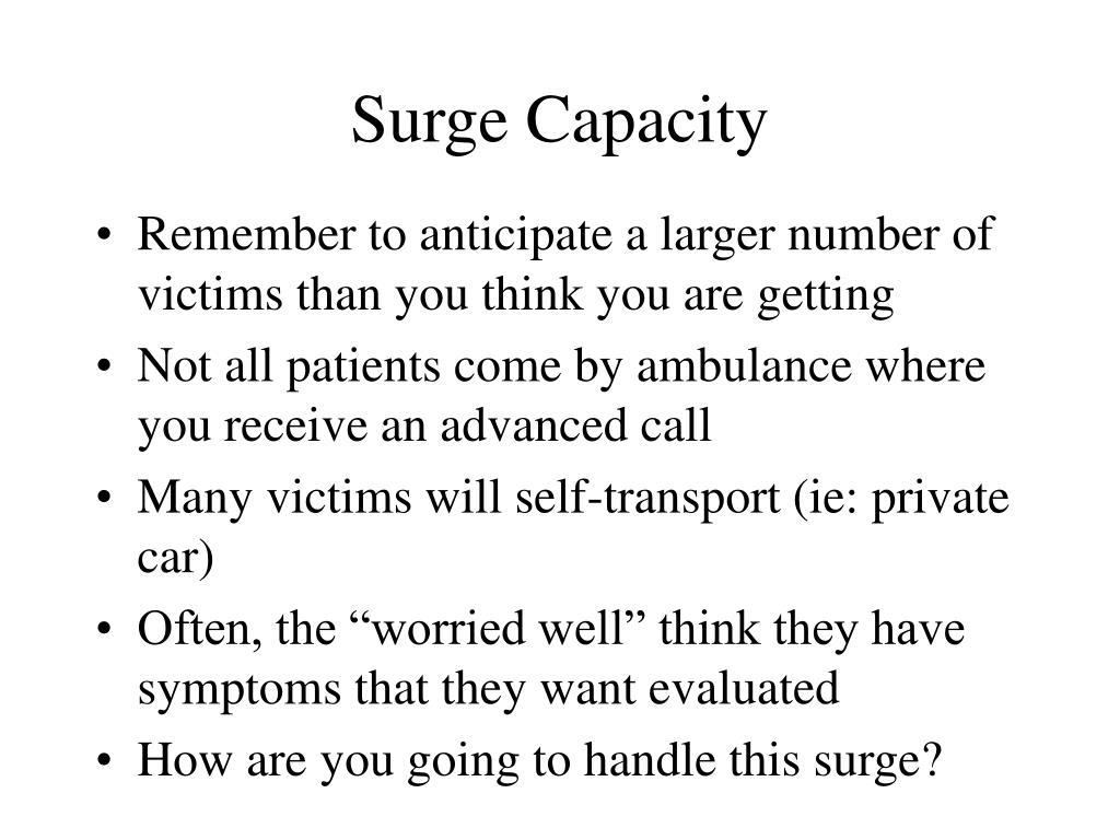 Surge Capacity