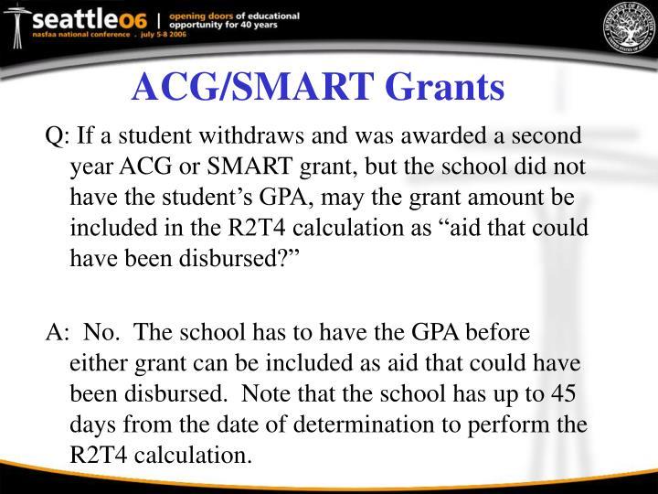 ACG/SMART Grants