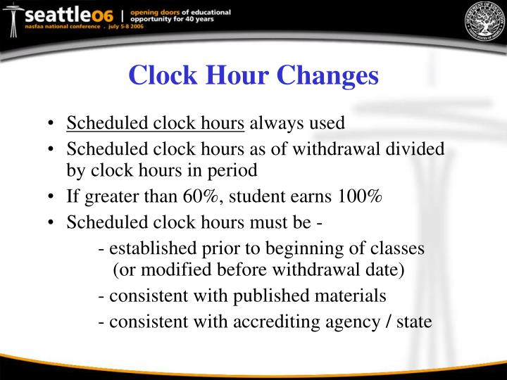 Clock Hour Changes