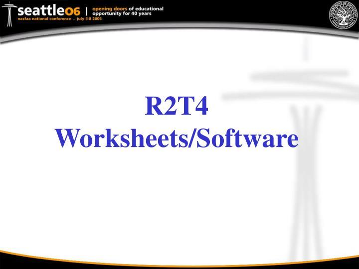 R2T4 Worksheets/Software