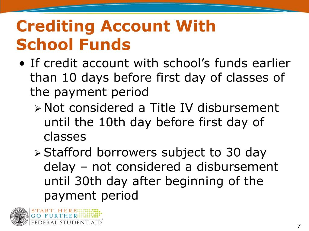 Crediting Account With School Funds
