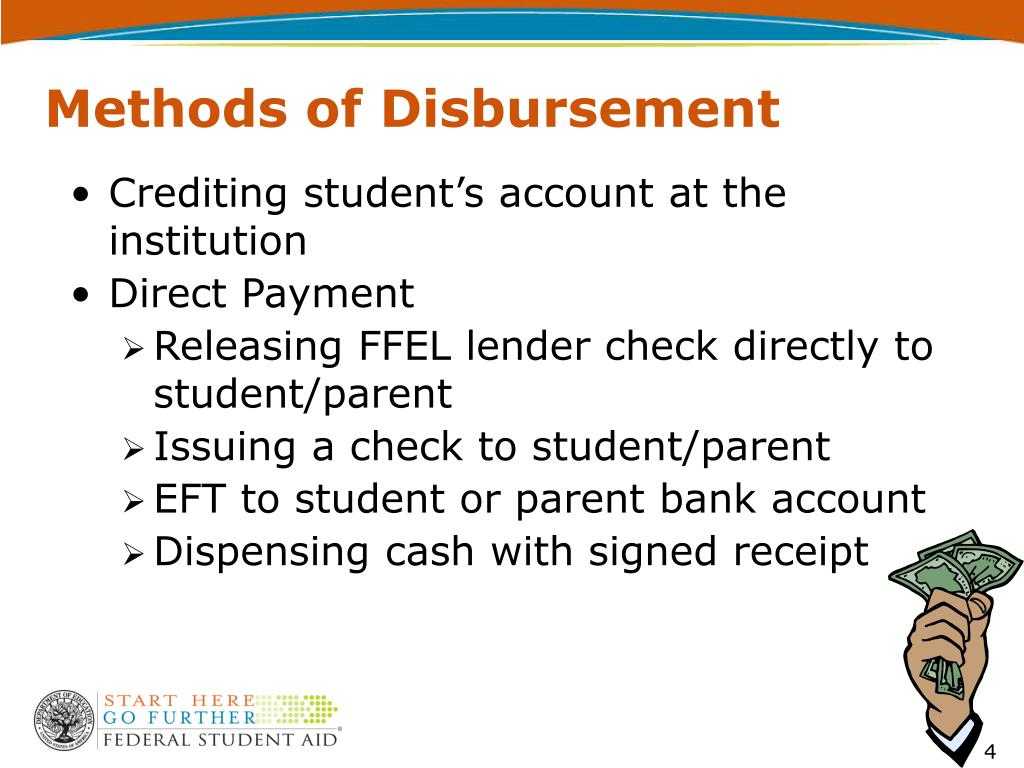 Methods of Disbursement