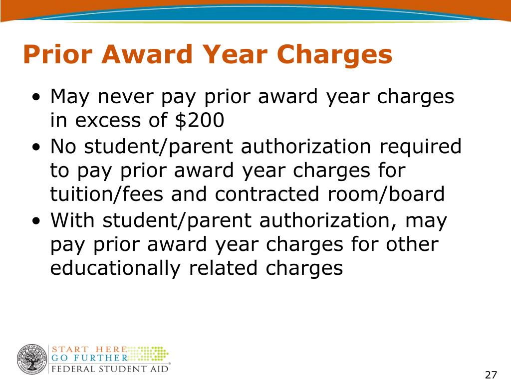 Prior Award Year Charges