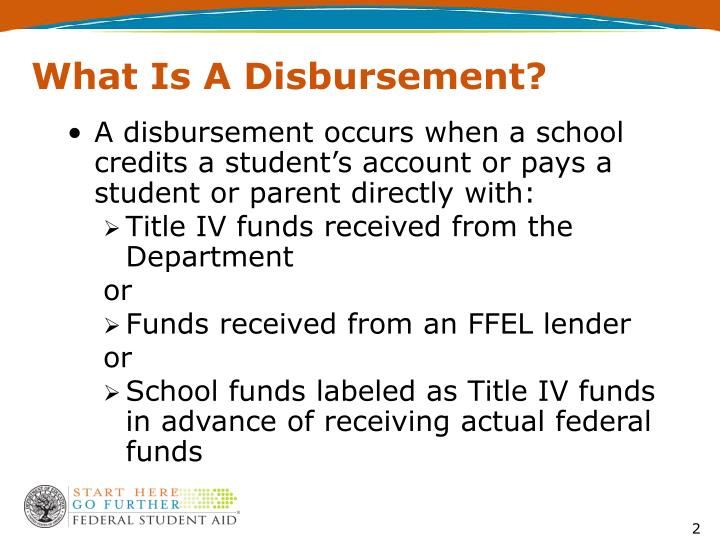 What is a disbursement
