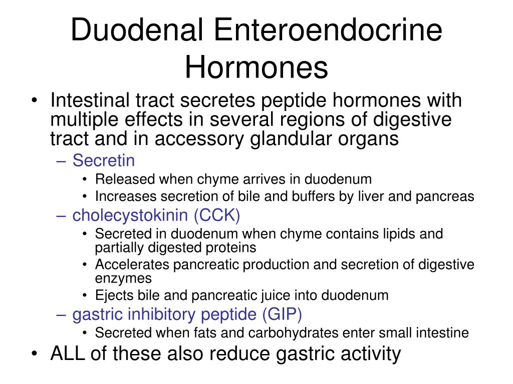Duodenal Enteroendocrine Hormones