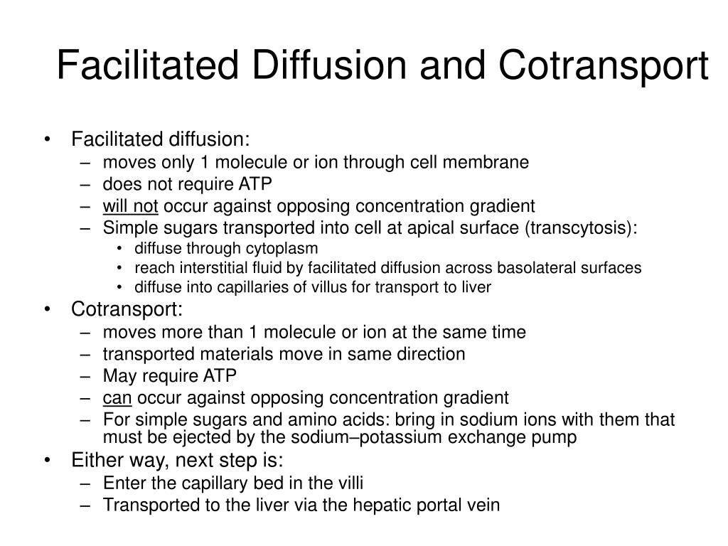 Facilitated Diffusion and Cotransport