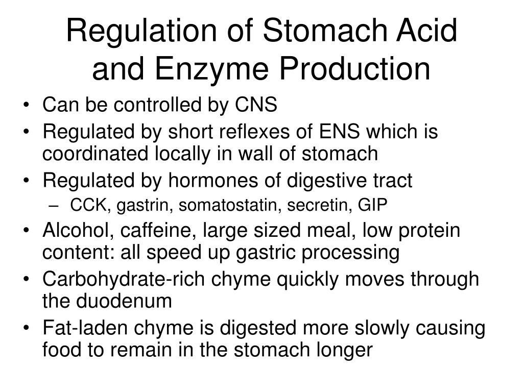 Regulation of Stomach Acid